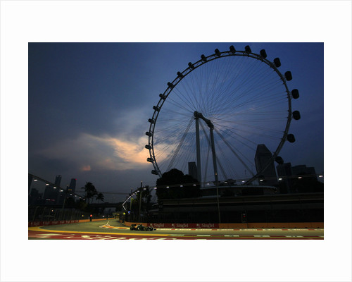 Wheel of fortune, Vitaly Petrov, Singapore by Charles Coates