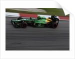 Electric green speed machine, Giedo van der Garde, Malaysia by Charles Coates