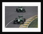 Turn two, Charles Pic & Giedo Van Der Garde, Australia by Charles Coates