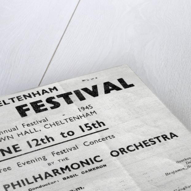 1945 Cheltenham Music Festival Programme Cover by Cheltenham Festivals