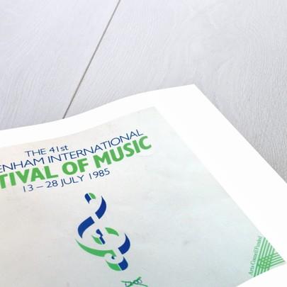 1985 Cheltenham Music Festival Programme Cover by Cheltenham Festivals