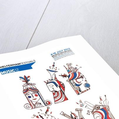 2012 Cheltenham Music Festival Programme Cover by Cheltenham Festivals
