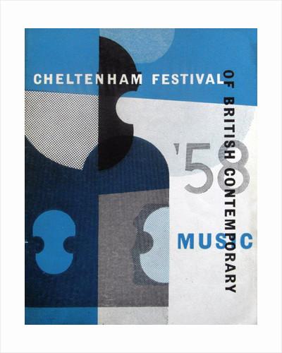 1958 Cheltenham Music Festival Programme Cover by Cheltenham Festivals