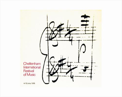 1975 Cheltenham Music Festival Programme Cover by Cheltenham Festivals
