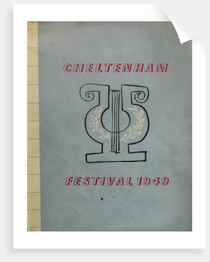 1949 Cheltenham Music Festival Programme Cover by Cheltenham Festivals