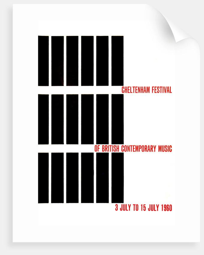 1960 Cheltenham Music Festival Programme Cover by Cheltenham Festivals