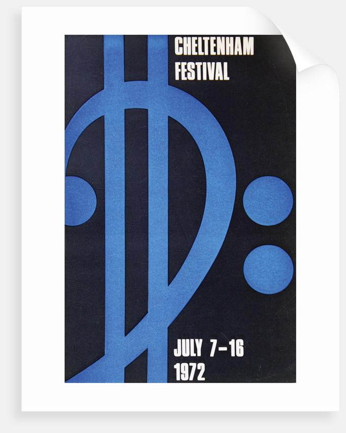 1972 Cheltenham Music Festival Programme Cover by Cheltenham Festivals