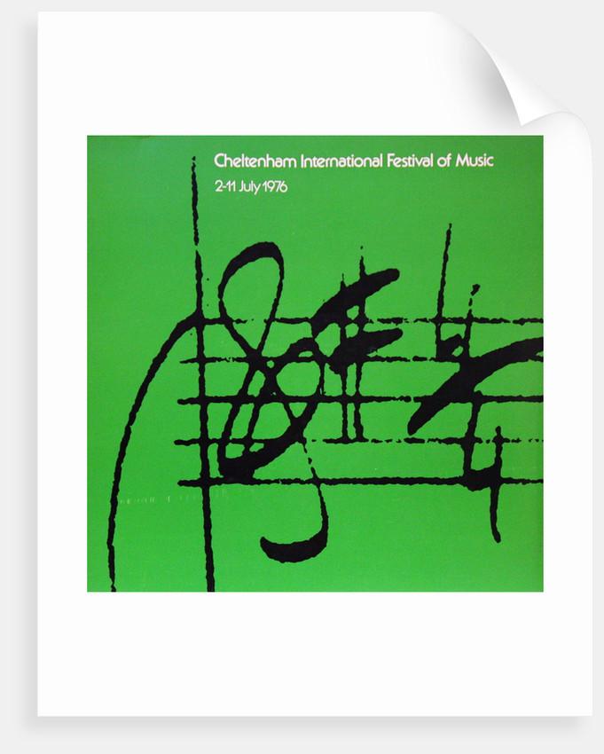 1976 Cheltenham Music Festival Programme Cover by Cheltenham Festivals