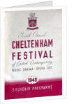 1948 Cheltenham Music Festival Programme Cover by Cheltenham Festivals