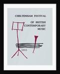 1955 Cheltenham Music Festival Programme Cover by Cheltenham Festivals