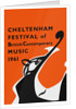 1961 Cheltenham Music Festival Programme Cover by Cheltenham Festivals