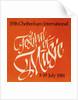 1981 Cheltenham Music Festival Programme Cover by Cheltenham Festivals