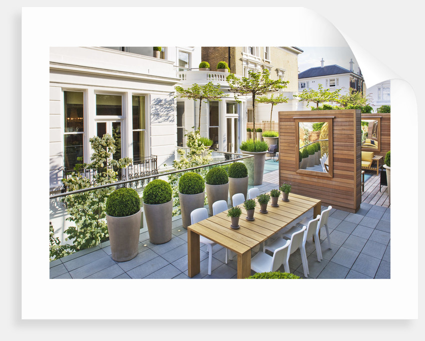 Roof Garden Designed By Stephen Woodhams, London: by Clive Nichols