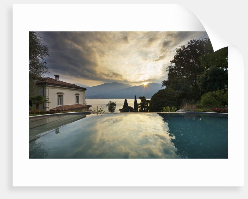 Villa Giuseppina, Lake Como, Italy  -  The Swimming Pool At Dawn by Clive Nichols