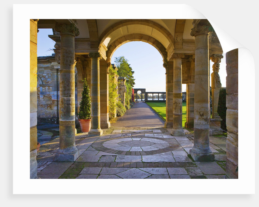 Hever Castle, Kent, Autumn: The Italian Gardens At Dawn by Clive Nichols