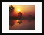 Japanese Pagoda, Dawn. Private Garden, Gloucestershire, Gb by Clive Nichols