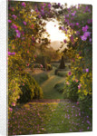 Pettifers, Oxfordshire: Dawn Light Hits The Parterre Framed By Rose Arbour by Clive Nichols