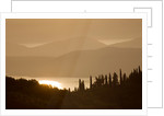 The Rou Estate, Corfu: Dawn Light On Corfu Hills And Albanian Mountains Beyond by Clive Nichols
