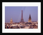 Roof Garden At The Holiday Inn, Rue Danton, Paris: Designers Eric Ossart And Arnaud Maurieres: View Of Eiffel Tower From Roof Terrace At Dawn by Clive Nichols