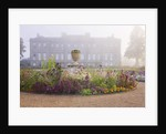 Ragley Hall Garden, Warwickshire: The Rose Garden And Hall In Morning Light. Mist by Clive Nichols
