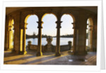 Hever Castle, Kent, Autumn: The Italian Gardens At Dawn - Looking Out To The Lake From The Loggia by Clive Nichols