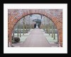 Hampton Court Castle And Gardens, Herefordshire: View Through Brick Arch In The Walled Garden In Frost by Clive Nichols