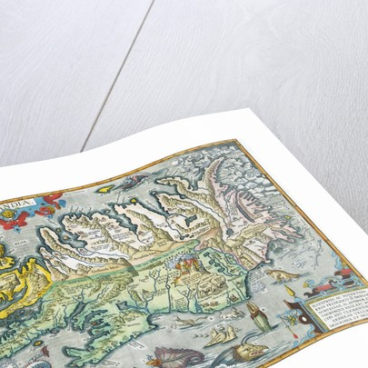 Islandia 16th-Century Map of Iceland by Corbis