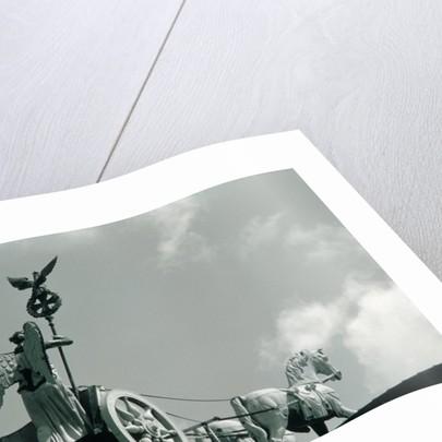 Quadriga of the Brandenburg Gate against clouded sky, Berlin, Germany by Corbis