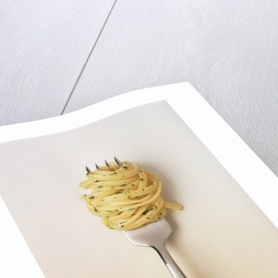 Fork with spaghetti by Corbis