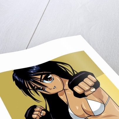 Anime Girl Fighter by Corbis