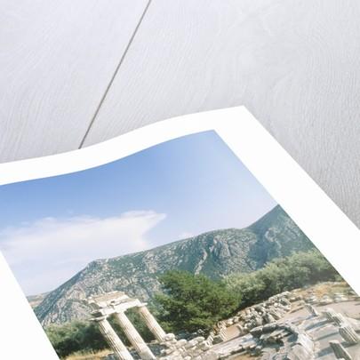 Tholos of the Athena Pronaia in Delphi, Greece by Corbis