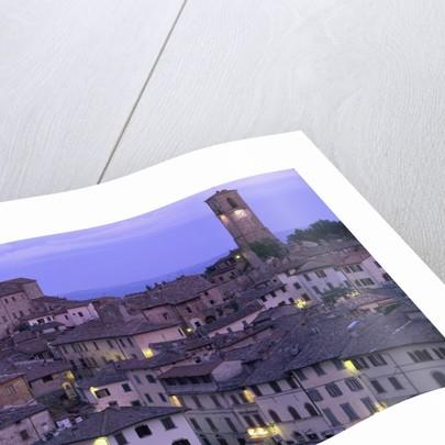 Anghiari at twilight, Vitaleta, Tuscany, Italy by Corbis