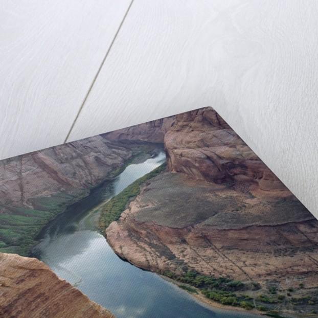 High angle view of Horseshoe Bend, Colorado River, Arizona, USA by Corbis