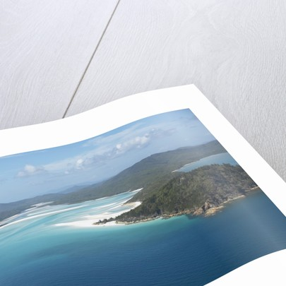 Aerial view of a peninsula jutting out into the ocean by Corbis