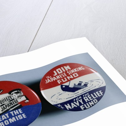 Anti-Japanese Buttons by Corbis