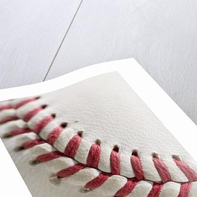 Lacing on Baseball by Corbis