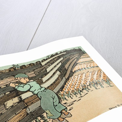 Illustration of Dutch Boy with His Finger in a Leaking Dyke by Grace P. Smith