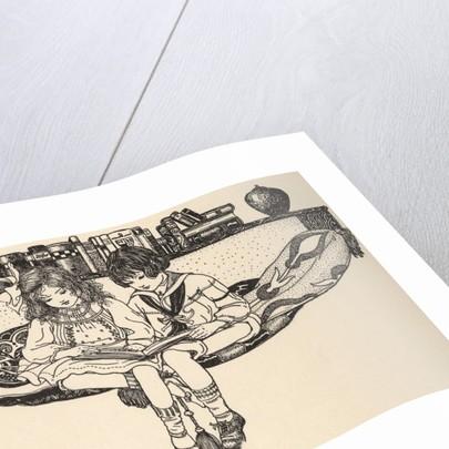 Illustration of Children Reading by Emilie Benson Knipe