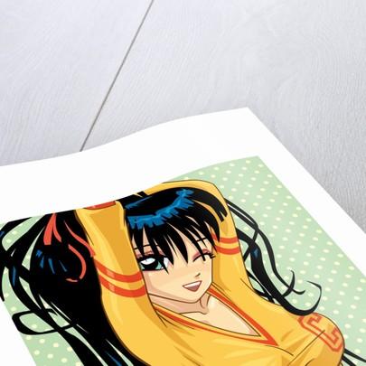 Anime Cheerleader by Corbis