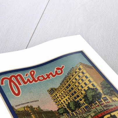 Hotel Aosta Milano Luggage Label by Corbis