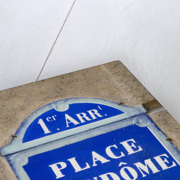 Address Sign on Place Vendome by Corbis