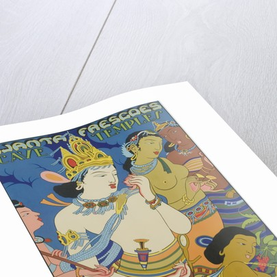Ajanta Frescoes Cave Temples Poster by Corbis
