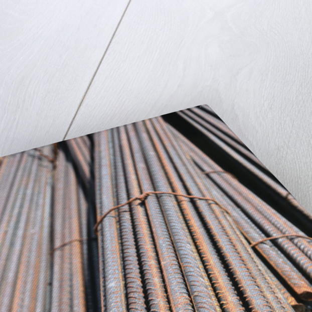 Bundle of Metal Beams by Corbis