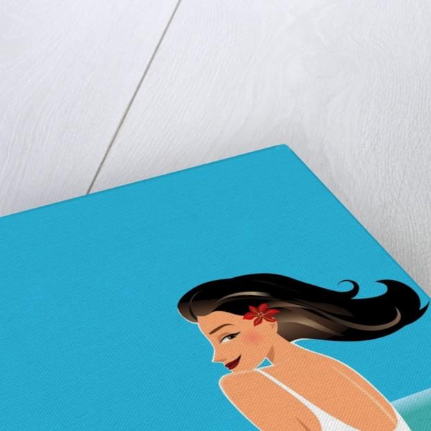 Woman on Beach by Corbis