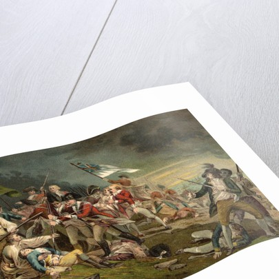 Postcard of the Death of General Warren at the Battle of Bunker Hill by Corbis