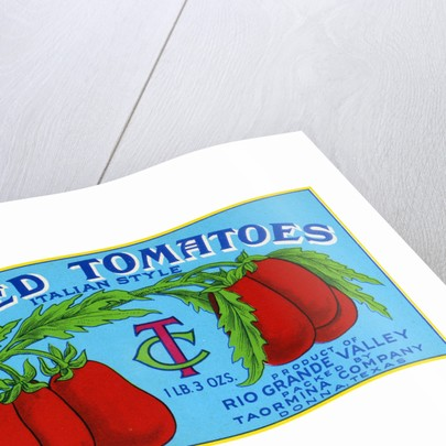 Peeled Tomatoes Italian Style Product Label by Corbis