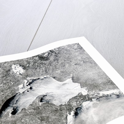 Severe Winter Covers Lake Superior in Sheets of Ice by Corbis