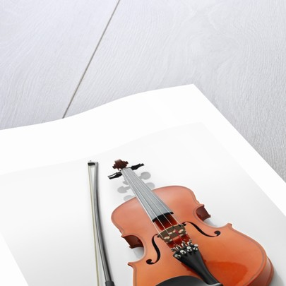Violin and Bow by Corbis