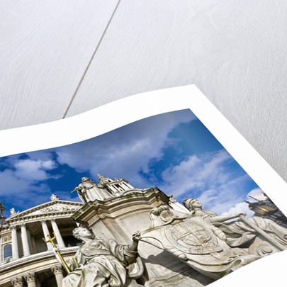 St. Paul's Cathedral and the Queen Anne Statue by Corbis