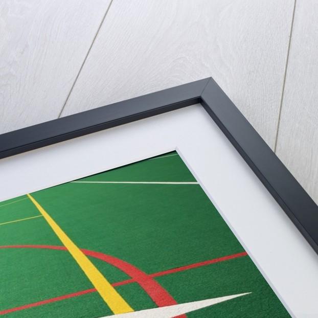Ten Yard Maker on Football Field by Corbis